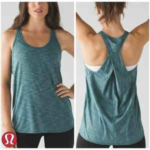 Lululemon | Essential Tank | Heathered Deep Green